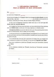 declaration de mariage formulaire d 1a déclaration d intention pour le mariage de deux