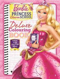 booktopia barbie princess charm deluxe colouring book