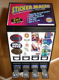 4 column sticker u0026 tattoo bulk vending machine with stand slot