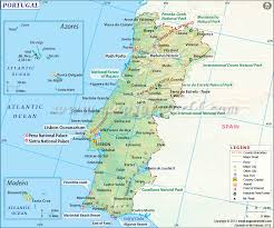 Geographical Map Of Europe by Map Of Portugal Portugal Map