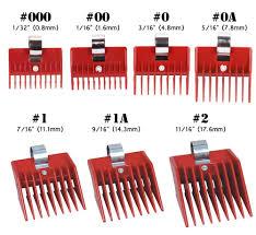 7pcs speed o guide universal clipper comb attachments 7 diff size