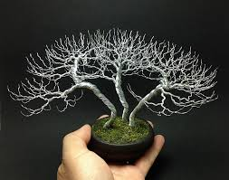wire bonsai trees by ken to homeli