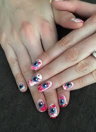 halloween month 2014 tutorial bloody eyeballs nails for nickels
