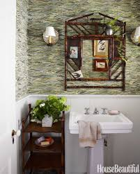 Beautiful Powder Room Colorful Los Angeles Cottage Granny Chic Decor