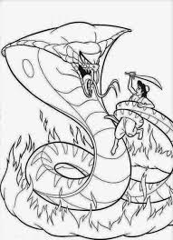 aladdin vs snake coloring pages rattlesnake color page animal pdf