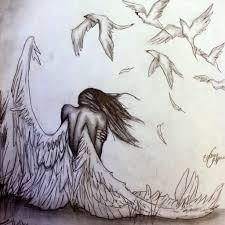 best pencil drawings of angel angel anime drawings in pencil hd