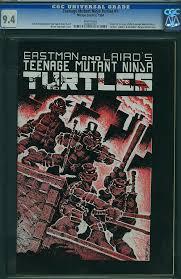 teenage mutant ninja turtles 1 print 1984 rare