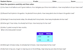 grade 1 maths addition subtraction word problems for cbse kids