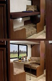 best 25 travel trailer floor plans ideas on pinterest airstream the storm s dual slide floor plan with standard traditional bunk beds or the optional