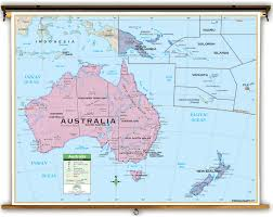 map of australia political primary australia political classroom map on roller