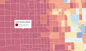Census Tract Map Chicago by Many Of Chicago U0027s Neighborhoods Have A High Risk Of Exposure To