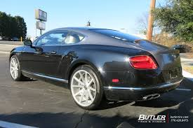 bentley coupe blue bentley continental gt with 22in vossen vfs1 wheels bentley