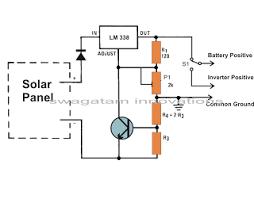 build a solar panel voltage regulator charger circuit
