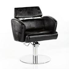 Global Upholstery Co Global Speed Snakeskin Hydraulic Chair Black Upholstery J And S