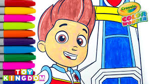 paw patrol coloring book ryder lookout tower hq crayola color