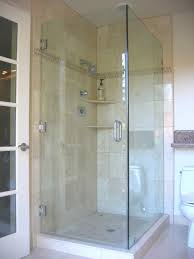 bathroom design of the corner shower doors glass bathroom