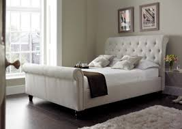 Bedroom Side Tables by Furniture Modern Bedroom With Sleigh Bed And Wall Art Also Lucite