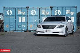 vip lexus ls460 blending in and standing out white lexus ls460 by vossen u2014 carid