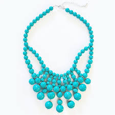 drop beads necklace images Retro bauble necklace turquoise bib necklace with hanging beads jpg