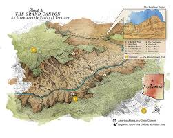 Colorado River On A Map by Colorado River In The Grand Canyon American Rivers
