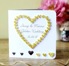 50th wedding anniversary greetings handmade 50th golden wedding anniversary card 50th wedding