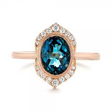 engagement rings london gold diamond and london blue topaz fashion ring 103173