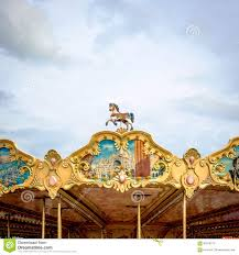 carousel roof decoration stock photo image 63918773