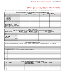 strategic account plan template for b2b sales released by four
