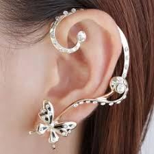 earring cuffs ear cuffs gold sliver and stud ear cuff earrings cheap online