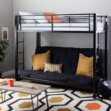 Black Futon Bunk Bed Modern Black Metal Bunk Bed With Futon Futon Bunk Bed Bunk