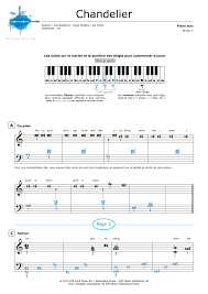 Chandelier Sia Piano Sheet Music Partition Piano Chandelier Sia Partitions Noviscore