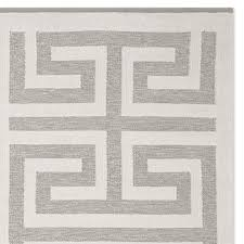 perennials greek key indoor outdoor rug gray williams sonoma