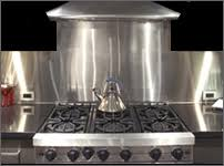 Affordable Stainless Backsplashes In Customcut Shapes  Sizes - Stainless steel backsplash