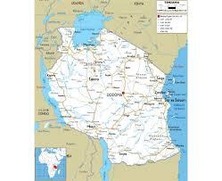 Burundi Map Maps Of Tanzania Detailed Map Of Tanzania In English Tourist