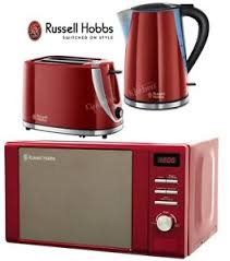 Toaster And Kettle Kettle And Toaster Set Microwave Russell Hobbs Red Microwave