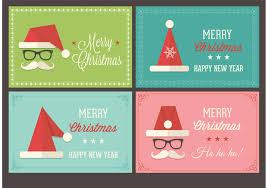 free santa cap christmas retro vector cards download free vector