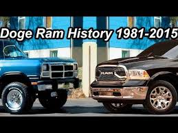 dodge trucks through the years história dodge ram 1981 2015