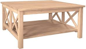 unfinished square coffee table hton square coffee table ww ot 70sc unfinished furniture outlet