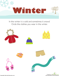 what do you wear in the winter worksheet education com