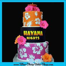 Tropical Theme Birthday Cake - custom birthday cake nj havana nights specialty cake blue