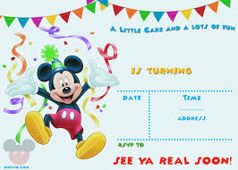 birthday invitation template free printable party mickey mouse birthday invitation template