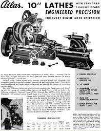 atlas 10 inch lathe catalog