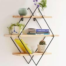 modern minimalist design wall mount shelf bookshelf flower pot