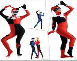 harley quinn jumpsuit plus size 3xl harley quinn jumpsuit costume fitted