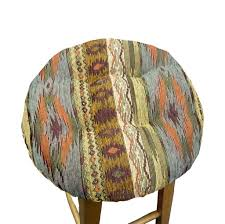 southwest tucson desert bar stool cover with cushion and