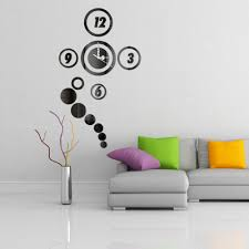 cozy decal wall clock 120 decal wall clock sticker new modern diy full image for superb decal wall clock 85 wall decal clock hands d acrylic mirror style
