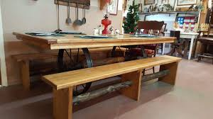 Pine Table Rustic Pine Table With Wagon Wheel Base Rusty Nails Of Ocala