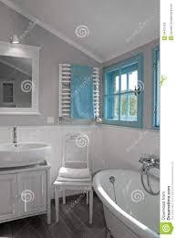 white grey rustic bathroom with window stock photo image 44431200