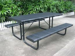 Kidkraft Outdoor Picnic Table by Square Picnic Table With Attached Benches Outdoor Picnic Tables