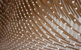 beech wood sticks adorning the interior of a mrqt boutique in